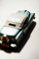 Retro American model car viewed from above