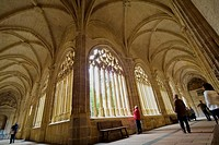 Cloister of Cathedral, Segovia. Castilla-Leon, Spain