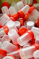 Plastic laboratory bottles