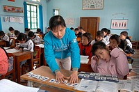 Vietnam. Yen Mo Tu commune primary school, Ninh Binh province. This is one of several schools in this region of northern Vietnam where CRS in cooperat...