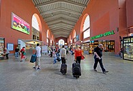 Hauptbahnhof, central station of Stuttgart, Baden-Wuerttemberg, Germany, Europe