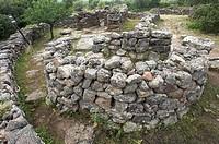 Saerra Orrios, Nuraghic Village near Dorgali, Sardinia, Italy, Europe