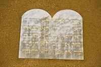 Stone tablet, synagogue, Casale Monferrato, Alessandria, Piemont, Italy