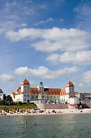 Beach and spa hotel, Binz, Ruegen, Baltic Sea, Mecklenburg_Western Pomerania, Germany, Europe