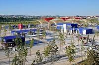 View over entrance area, Expo 2008, World Fair, Zaragoza, Aragon, Spain, Europe