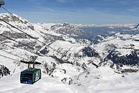 Gondola, Portavescovo Sella Ronda, Dolomite Alps, Bolzano-Bozen, Trentino, Italy, Europe