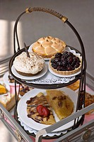 2_tier tray with decadent desserts