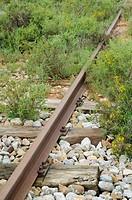Vía abandonada; Ferrocarril Santander-Mediterráneo; Villarroya de La Sierra; Comarca Comunidad de Calatayud; Zaragoza; Aragón; España