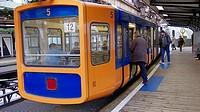 D-Wuppertal, Wupper, Bergisches Land, Nordrhein-Westfalen, NRW, Wuppertal-Oberbarmen, Schwebebahn, Haltestation Oberbarmen, Bahnhof, Transport, Verkeh...
