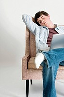 Sleeping boy with laptop