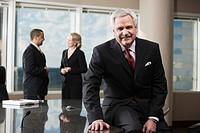 Businessman in corporate office