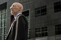 Side view of a senior businessman