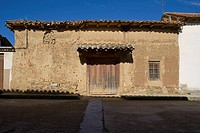 Typical house, Pobladura del Valle. Zamora province, Castilla-Leon, Spain