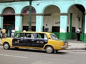 Modified taxi cab. Cuba
