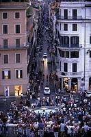 The Spanish Steps, overseeing the Baraccia Fountain and the Via Condotti, Rome, Latium, Italy, Europe