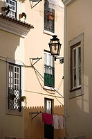 Picturesque corner in Alfama, Lisbon, Portugal, Europe