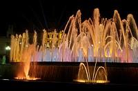 Plaça del Marquès de Foronda, Fonta Magica , Barcelona, Catalonia, Catalunya, Spain, Europe