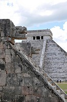 Temple of Kukulkan Pyramid, Plataforma de Venus, Platform of Venus, Zona Nord, Chichen-itza, new wonder of the world, Mayan and Toltec archaeological ...