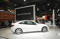 Mercedes information booth, Mercedes CLC 180, AMI Automobil International, international auto show, Leipzig, Saxony, Germany