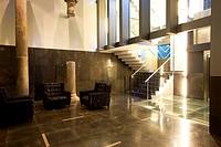 Lobby and staircase of the Hotel Silken Zentro, a designer hotel of the Hoteles Silken group, Saragossa or Zaragoza, Aragon, Spain, Europe