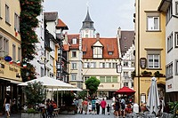 Maximiliansstrasse, Maximilians Street, Lindau, Lake Constance, Bavaria, Germany, Europe