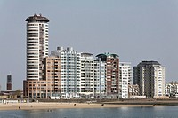 High_rise buildings, Evertsen Boulevard, Vlissingen, Walcheren, Zeeland, Netherlands, Europe