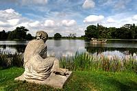 Shell Nymph sculpture at Woerlitzer Lake, Gartenreich Dessau-Woerlitz, Dessau-Woerlitz Garden Realm, UNESCO World Heritage Site, Dessau, Saxony-Anhalt...