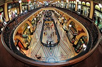 Interior of the Queen Victoria Building or QVB shopping centre in Sydney, New South Wales, Australia