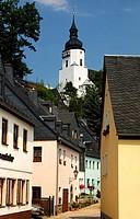 St. Georgen Church, Schwarzenberg, Erzgebirge, Saxony, Germany