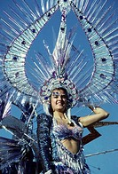 Queen, Carnival in Santa Cruz on Tenerife Island, Canary Islands, Spain