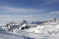 Gondola lift, Moelltalgletscher (Moell Valley Glacier) ski area, Carinthia, Austria, Europe