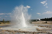 Daisy Geyser in Upper Geyser Basin, Yellowstone National Park, Wyoming, USA