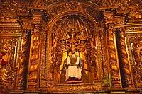 Cathedral interior, Quito, Ecuador, South America