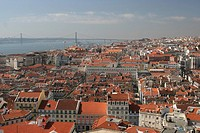 City view from San Jorge Castle, Lisbon, Região de Lisboa, Portugal, Europe