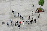 Tourists, main square, Bratislava, Slovakia