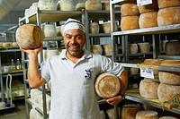 Cheese maker, Siliqua, Cagliari province, Sardinia, Italy