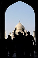 India, Uttar Pradesh province, Agra, the Taj Mahal.