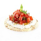 Tomato Rice cracker Bruchetta