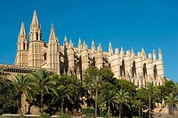 Façade of the cathedral. Palma de Mallorca. Balearic Islands. Spain