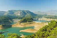 Dam, Presa de Guadalhorce, Guadalteba, Málaga, Andalucia, Spain, Europe