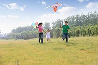 Chinese Family Flying Kite,Beijing
