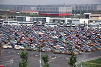 Parking Lot In Airport,Beijing,China