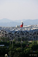 Flaming Torch On National Stadium,Beijing,China