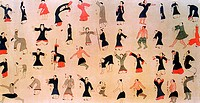 paint about ancient people exercising