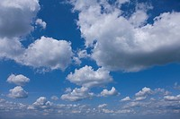 Clouds in blue sky