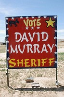 Arizona USA, board for the local Apache sheriff election