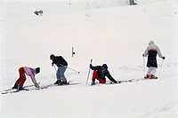 Skiing at Solang learning , Himachal Pradesh , India