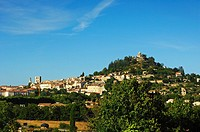 Hill with citadel, Forcalquier, Provence, France