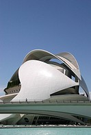 Palau de las Arts Reina Sofia building in City of Arts and Sciences, Valencia, Spain