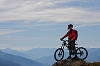Mountain biker taking in the view